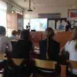 Ну уроке литературы в Новоникольской школе